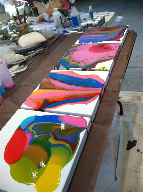 mixing acrylic paint with resin on canvas thiel studio 187 painting tutorial liquitex pouring