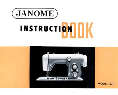 new home janome model 670 sewing machine manual