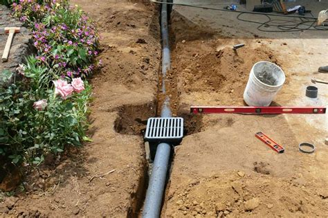 Backyard French Drain Sistemas De Drenaje