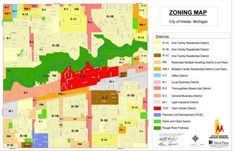 zoning map zoning maps inkster mi