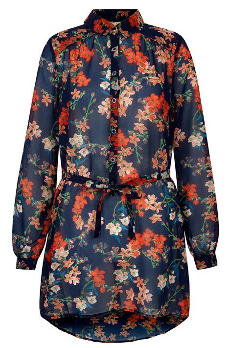 Yumi Tops Orange yumi orange blossom tunic from columbia by