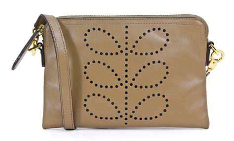 New Handbag 085 orla kiely soft simple pocket leather crossbody poppy bag