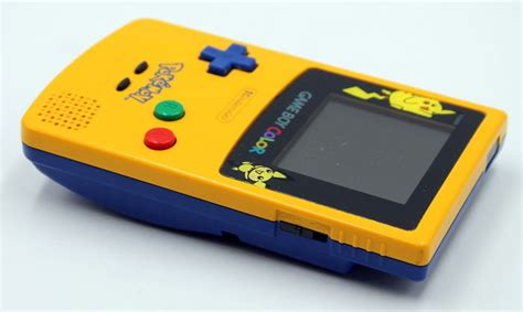 gameboy color pikachu edition limited edition nintendo gameboy color pikachu