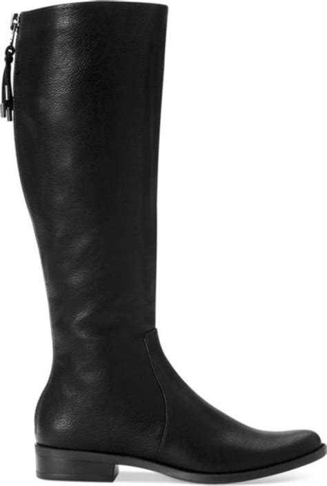 calvin klein taylin boots in black black leather