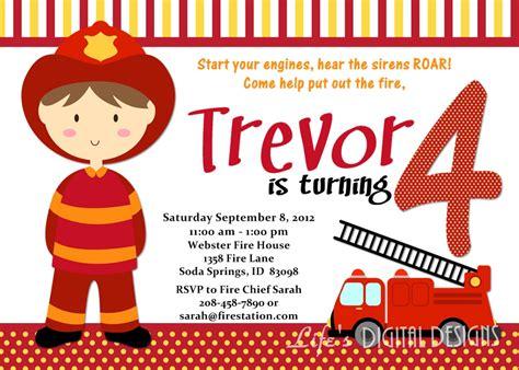 Firefighter Invitation Templates Firefighter Birthday Invitation Ideas Bagvania Free Printable Invitation Template