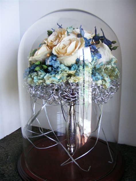 Wedding Bouquet Display by Glass Domes Display Your Bridal Bouquet Wedding Flowers