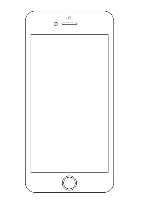 Iphone Layout Template 25 Outline Mockups For Wireframing Presentation