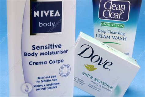 Spl Skincare Madiun skincare products stock image c025 9197 science photo
