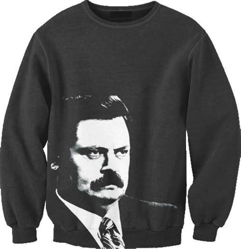 ron swanson ugly sweater swanson sweatshirt holy crap buy this for me parks and recreation