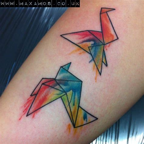 origami crane tattoo 46 best images about origami tattoos on