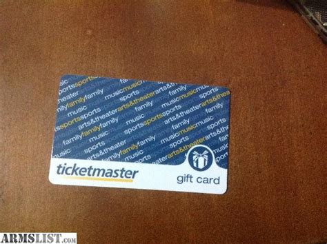 Ticketmaster Gift Card - armslist for trade 250 ticketmaster gift card