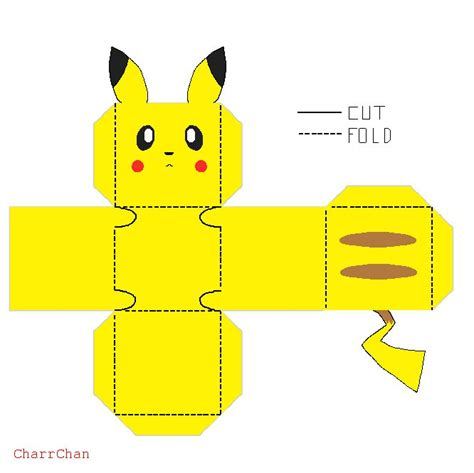 printable paper projects pokemon papercraft pikachu find craft ideas