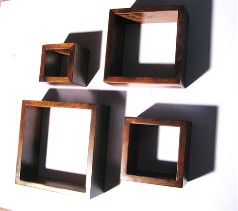 Wall Shelf Cubes by Wall Cube Shelves Set Of 4 Wall Cubes Shelves Cottage Chic