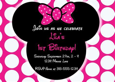 free printable baby minnie mouse 1st birthday invitations free editable minnie mouse birthday invitations minnie