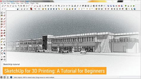 tutorial sketchup 3d printing tutorial tuesday 17 sketchup for 3d printed buildings and