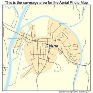 aerial photography map of celina tn tennessee