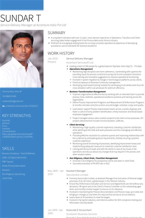 Computer Operator Resume Sample by Service Delivery Manager Resume Samples Visualcv Resume