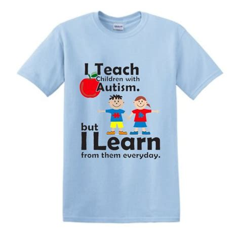 Tshirt Autistic Of Db i teach children with autism t shirt light blue autismthings