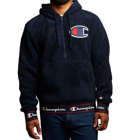 Zip Hoodie Chion Big C chion sherpa pullover hoodie navy