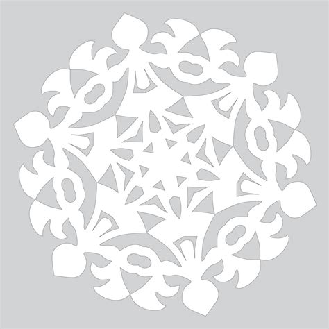 paper craft patterns how to make paper snowflake with pattern to