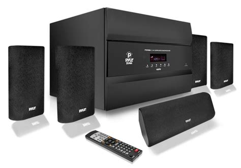 new pyle 400w 5 1 channel home theater system w bluetooth
