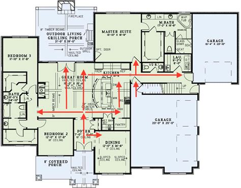 collections of 2 story great room floor plans free home