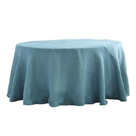 Ballard Designs Headboards round burlap tablecloth dusty blue wisteria