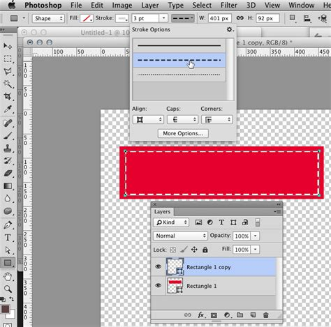 put pattern in photoshop how to put a dotted line stroke on a vector shape using