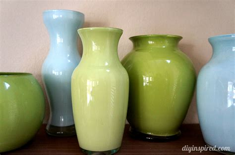 Coloured Glass Vases by Painted Colored Glass Vases Diy Inspired