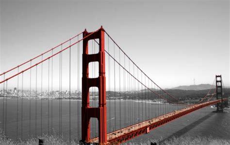 Fotos En Blanco Y Negro Con Rojo | foto mural 0 golden gate rojo y fondo blanco y negro ciudades