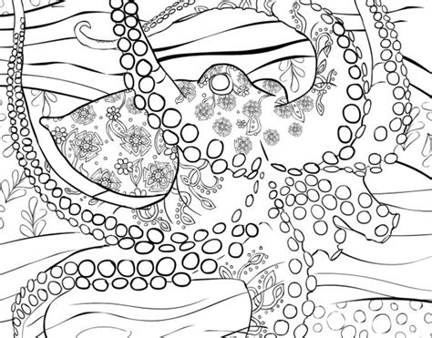 Adult Coloring Book Page To Print and Download. Printable