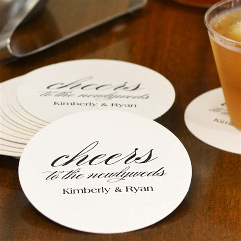 unique drink coasters custom printed round pulpboard wedding drink coasters