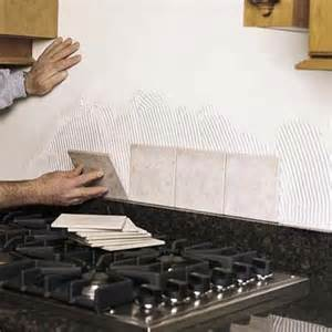 How To Lay Tile Backsplash In Kitchen by Set The Field Tile How To Install A Tile Backsplash