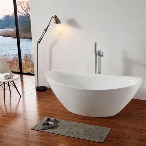 baignoire en acrylique baignoire 238 lot ovale en acrylique bellagio blanc 180x86cm