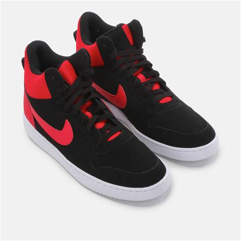 mid basketball shoes shop black nike recreation mid basketball shoe for mens by