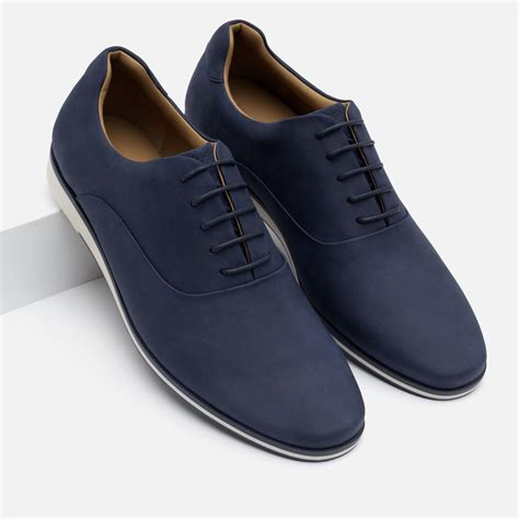 oxford shoes blue zara faux leather oxford shoes in blue for lyst