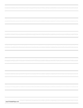 printable lined paper for cursive writing printable penmanship paper with eight lines per page on
