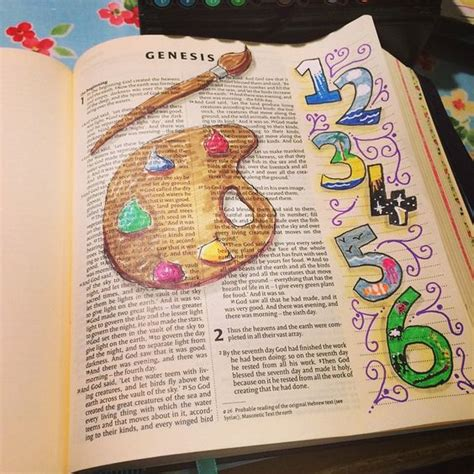 doodle lds ideas genesis 1 bible journaling challenges