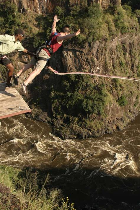 gorge swing high wire activities in victoria falls bungee swing