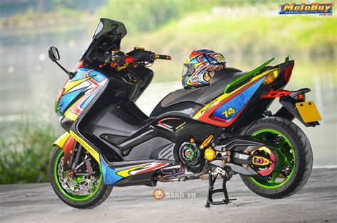 Sticker Motor Aksesoris Motor Aerox 155 Merah modifikasi yamaha t max color motohits