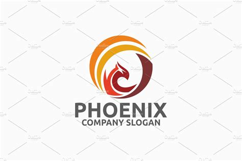 phoenix logo logo templates creative market