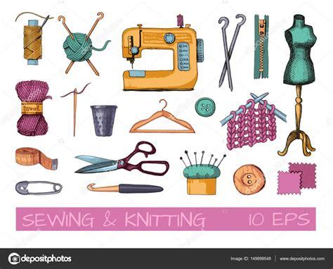 dibujos realistas materiales dibujos de herramientas y materiales para coser y tejer
