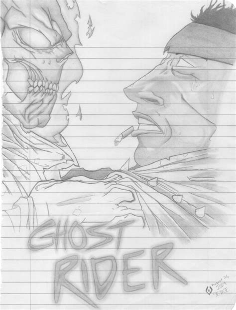 doodle rider ghost rider doodle by sweeneylover on deviantart