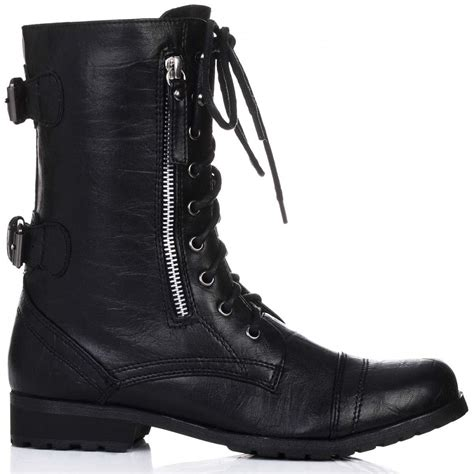 black lace up biker boots flat black lace up ankle boots www imgkid com the