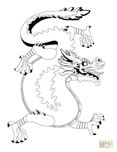 chinese dragon coloring pages easy chinese dragon coloring page free printable coloring pages