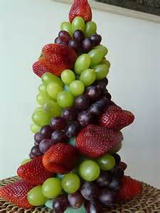 edible tree centerpiece easy fruit topiary great edible centerpiece for a