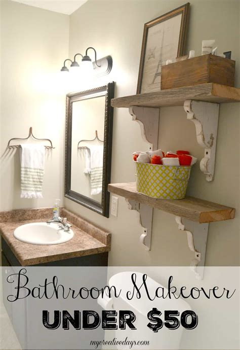 bathroom makeover cost bathroom makeover 50 my creative days
