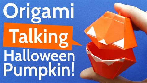 Origami Talking - how to make an origami talking pumpkin diy