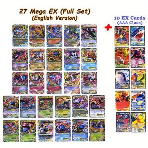 card sets pok 233 mon trading card mega ex 27 cards set