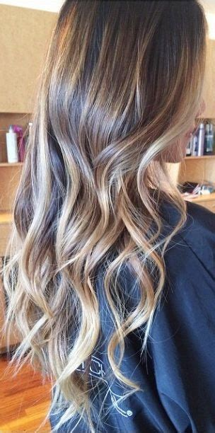 pictures of long beunettes gone blonde brunette with caramel blonde highlights hair pinterest
